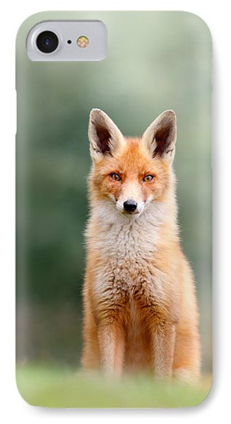 Softfox - Red Fox Sitting IPhone Case by Roeselien Raimond