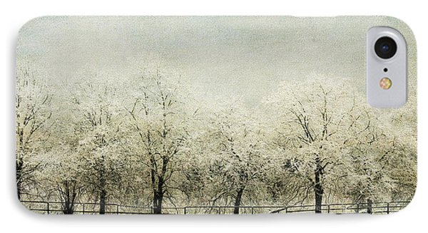 Softly Falling Snow IPhone Case by Chris Armytage