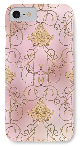 Softly Summer - French Parisian Apartment Damask Lilac IPhone Case