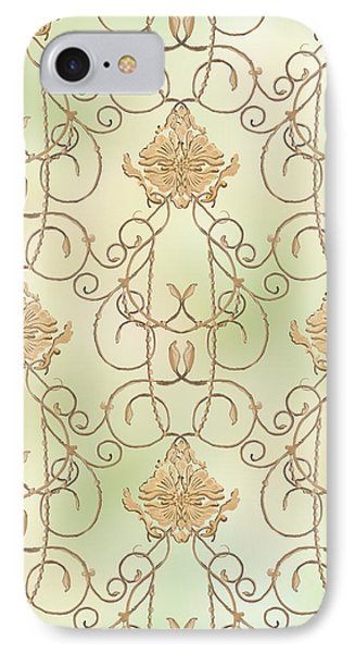 Softly Summer - French Parisian Apartment Damask Mint IPhone Case
