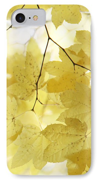 Softness Of Yellow Leaves Phone Case by Jennie Marie Schell