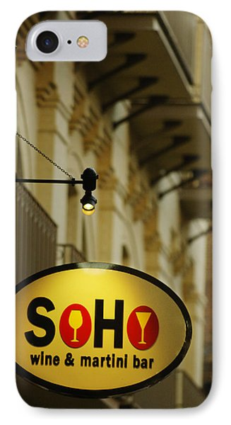 Soho Wine Bar Phone Case by Jill Reger