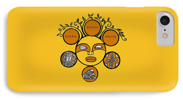 IPhone Case featuring the drawing Sol Taino by Aurora Levins Morales