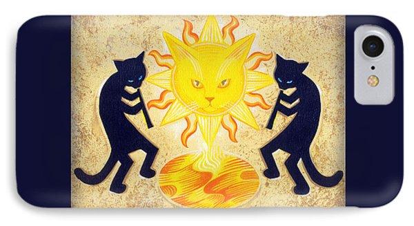 Solar Feline Entity Phone Case by John Deecken