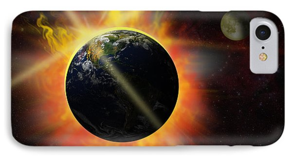 Solar Flare IPhone Case by Michal Boubin