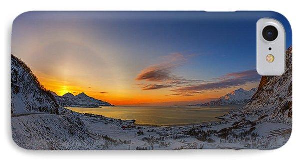 Solar Halo And Sun Pillar, Norway IPhone Case by Babak Tafreshi