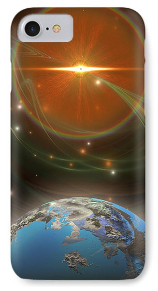 Solar Message Phone Case by Corey Ford