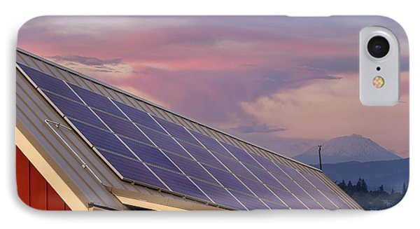 Solar Panels On Roof Of House Phone Case by David Gn