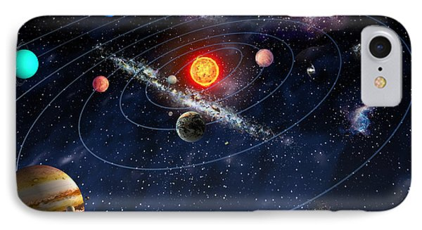 Solar System IPhone Case by Gina Dsgn