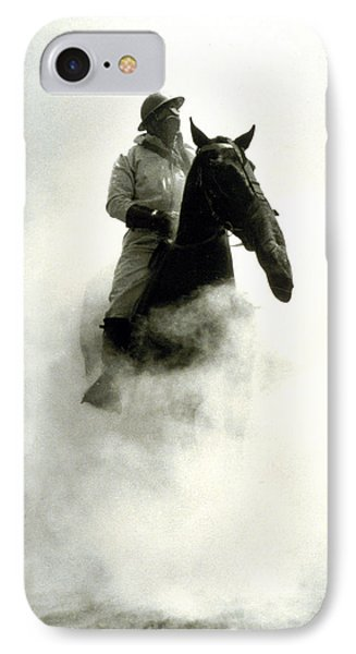 Soldier And Horse Wearing A Gas Mask During The Battle Of Verdun IPhone Case