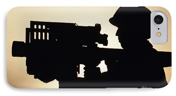 Soldier Holds A Stinger Anti-aircraft Phone Case by Stocktrek Images