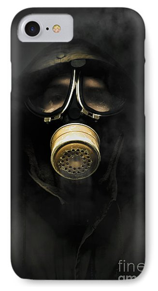 Soldier In Gas Mask IPhone Case by Jorgo Photography - Wall Art Gallery