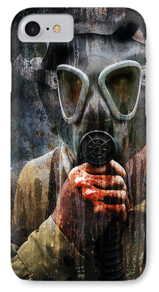 Soldier In World War 2 Gas Mask IPhone Case