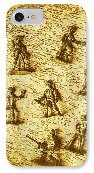 Soldiers And Battle Maps IPhone Case