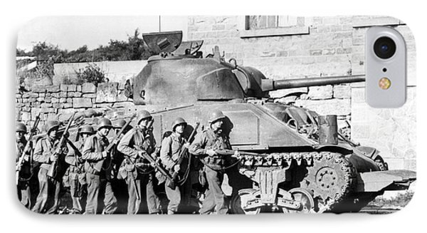 Soldiers And Their Tank Advance IPhone Case by Stocktrek Images