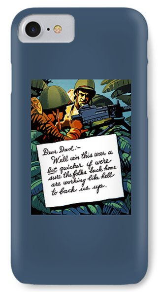 Soldier's Letter Home To Dad -- Ww2 Propaganda IPhone Case