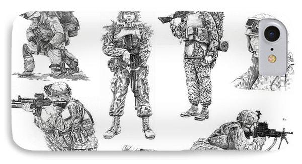 Soldiers Phone Case by Murphy Elliott