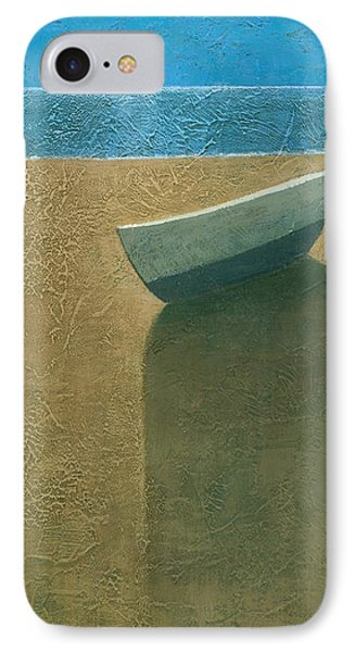 Solitary Boat IPhone Case by Steve Mitchell