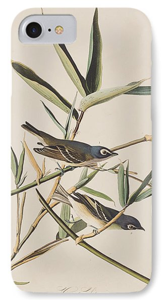 Solitary Flycatcher Or Vireo IPhone 7 Case by John James Audubon