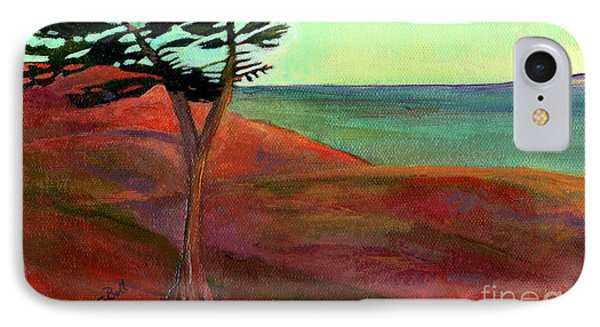 IPhone Case featuring the painting Solitary Pine by Claire Bull