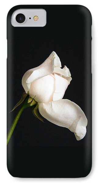 IPhone Case featuring the photograph Solitary Rosebud by Margie Avellino