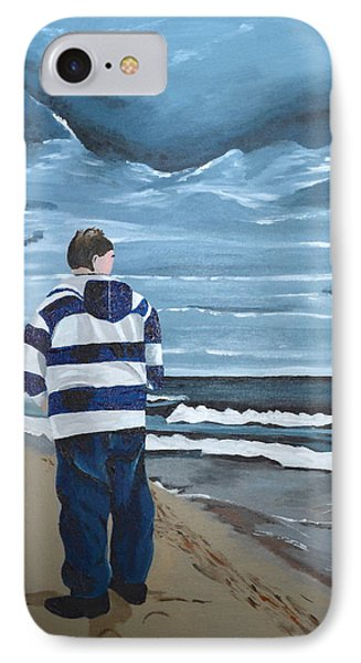 IPhone Case featuring the painting Solitude by Donna Blossom