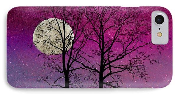 Solitude II Harvest Moon, Pink Opal Sky Stars IPhone Case