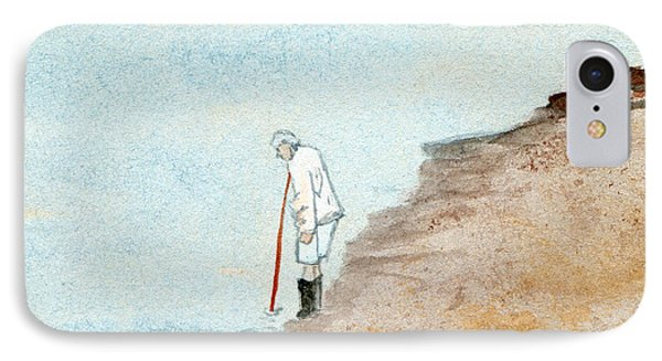 Solitude On The Shoreline IPhone Case by R Kyllo