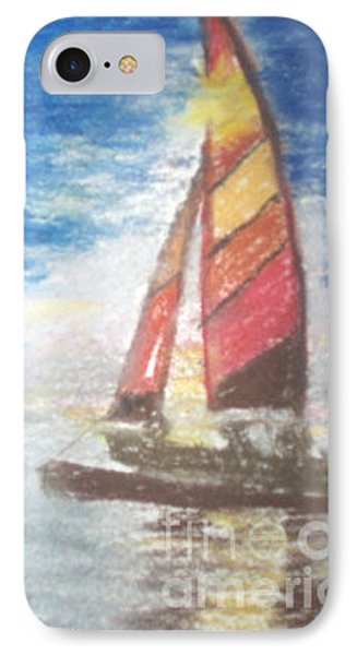 IPhone Case featuring the painting Solo Ride by Trilby Cole