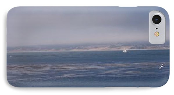 Solo Sail In Monterey Bay Phone Case by Pharris Art