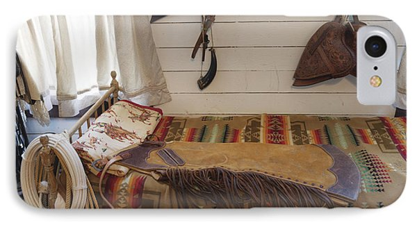 Some Genuine Old West Articles Displayed Inside A Bunkhouse  IPhone Case by Carol M Highsmith