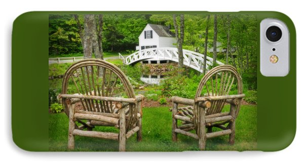 Somesville Maine - Arched Bridge IPhone Case by Thomas Schoeller