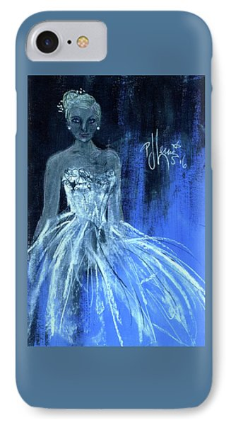 IPhone Case featuring the painting Something Blue by P J Lewis
