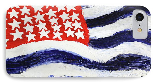 IPhone Case featuring the painting Something's Wrong With America by Thomas Blood