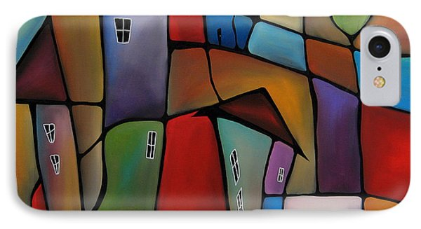 Somewhere Else - Abstract Pop Art By Fidostudio IPhone Case