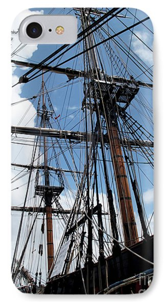 Son Of A Son Of A Sailor Quote - Tribute To The Bounty IPhone Case by Joan  Minchak