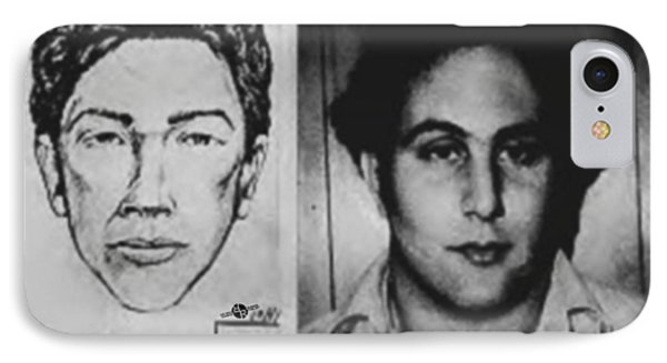 Son Of Sam David Berkowitz Mug Shot And Police Sketch IPhone Case by Tony Rubino