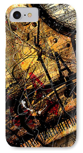 Sonata In Ace Minor Panel 3 IPhone Case by Gary Bodnar