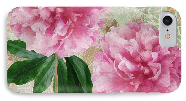 Sonata Pink Peony I IPhone Case by Mindy Sommers
