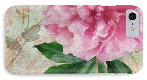 Sonata Pink Peony II IPhone Case by Mindy Sommers
