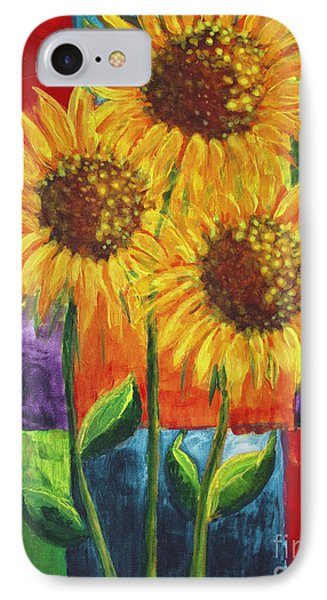 IPhone Case featuring the painting Sonflowers I by Holly Carmichael