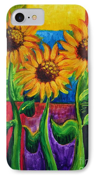 IPhone Case featuring the painting Sonflowers II by Holly Carmichael