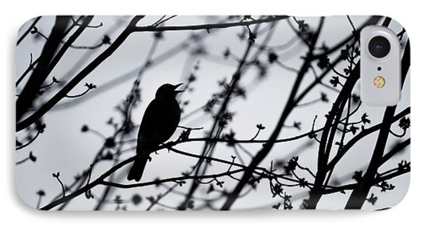 IPhone Case featuring the photograph Song Bird Silhouette by Terry DeLuco