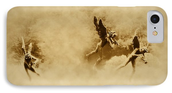 Song Of The Angels In Sepia Phone Case by Bill Cannon