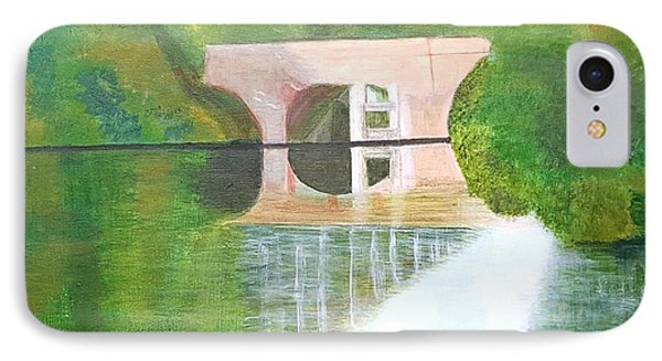 Sonning Bridge In Autumn IPhone Case by Joanne Perkins