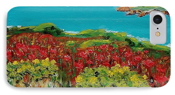 Sonoma Coast With Wildflowers IPhone Case by Mike Caitham