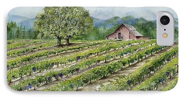 Sonoma County Vineyard Phone Case by Virginia McLaren