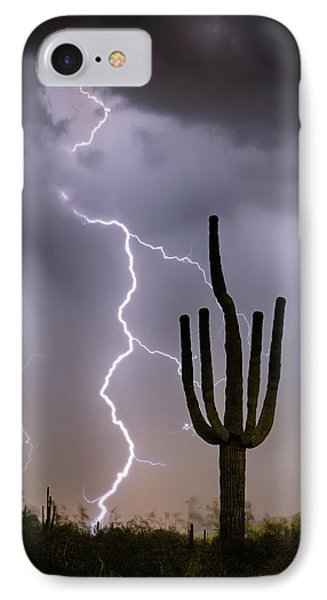 IPhone 7 Case featuring the photograph Sonoran Desert Monsoon Storming by James BO Insogna