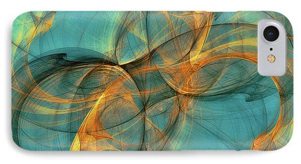 IPhone Case featuring the digital art Soothing Blue by Deborah Benoit