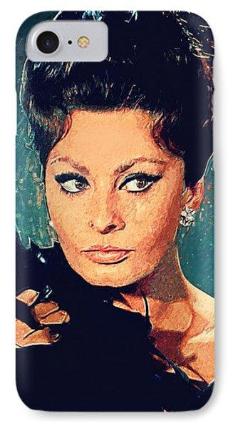 Sophia Loren IPhone 7 Case by Taylan Apukovska